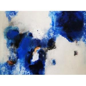 Nina Zielińska -Krudysz, Abstrakcja z kobaltem, 2020