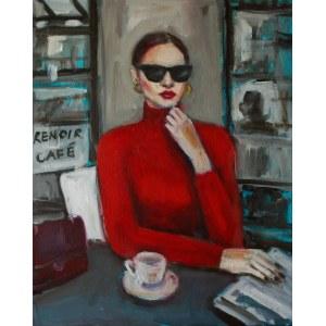 Anna Zawadzka-Dziuda, Renoir cafe, 2021