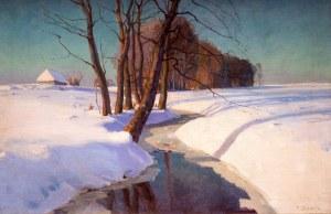 Teodor ZIOMEK (1874-1937), Pejzaż zimowy
