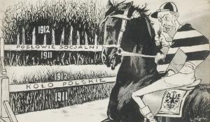 Ludwik NAWOJEWSKI [NAWOJ] (1864- 1930), Wyścig