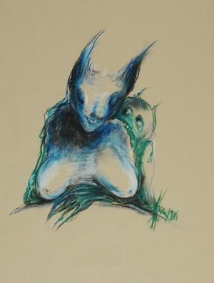 Bożena WAHL (ur. 1932), W objęciach pokusy, 1985