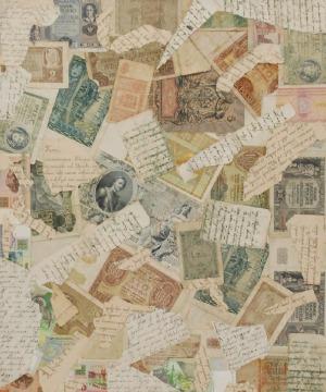 Teresa RUDOWICZ (1928-1994), Collage, 1991