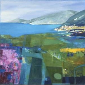 Inez White (ur. 1966), Pejzaż śródziemnomorski, 2020