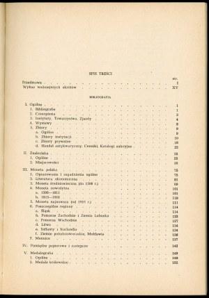 Gumowski Marian. Bibliografia numizmatyki polskiej