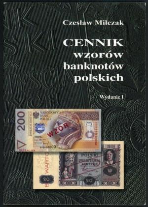 Miłczak Czesław. Cennik wzorów banknotów polskich. Wydanie pierwsze.