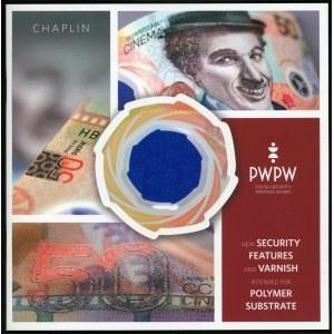 Testowy banknot PWPW CHAPLIN + książeczka.