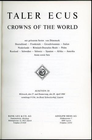 Hess Adolf...Auktion 30 Taler Ecus Crowns of the world