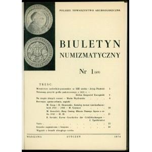 Biuletyn Numizmatyczny Rok 1970