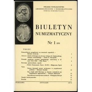 Biuletyn Numizmatyczny Rok 1974