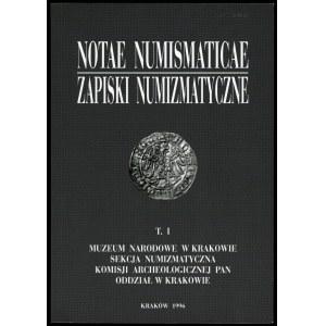 Notae Numismaticae T.I . 1996.