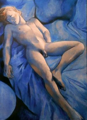 Juliusz Lewandowski /Juliusz Martwy/ (1977), Akt niebieski (2017)