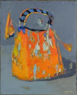 Jolanta Caban (1962), Torebeczka w pomarańczowej tonacji (2017)