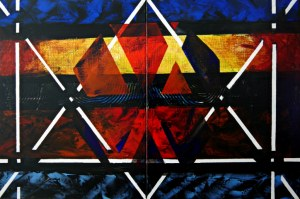 Andrzej Grabowski (ur. 1962), African vibe, dyptyk, 2020