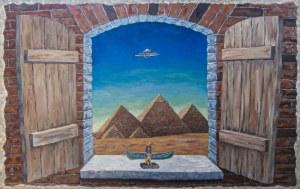 Jan Bembenista (ur. 1962), Pocztówka z Egiptu, 2020