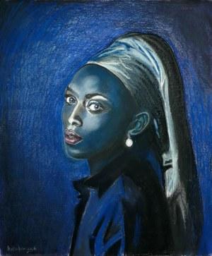 Tomasz Włodarczyk (ur. 1962), Portret dziewczyny z perłą III, 2021