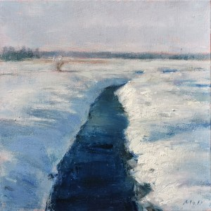 Mariusz Robert Drabarek (ur. 1969), Pejzaż zimowy, 2021