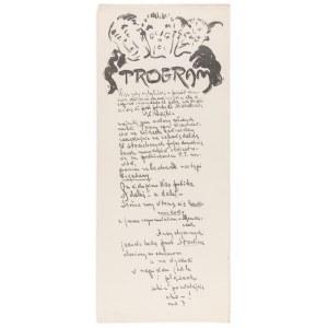 Filipkiewicz Stefan (1879-1944), Program Zielonego Balonika, ok. 1912