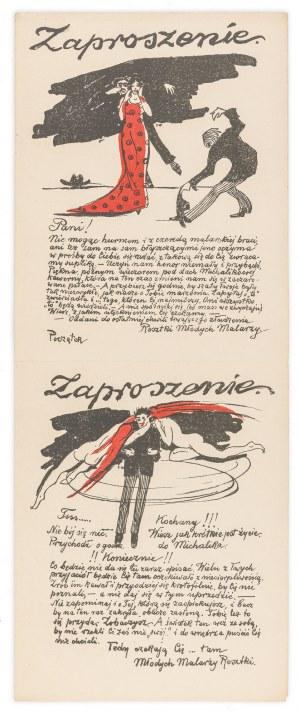 Wojnarski Jan (1879-1937), Zaproszenie do Jamy Michalika, ok. 1910