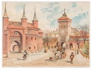 Kossak Juliusz, Tondos Stanisław, Barbakan i Brama Floriańska, 1886