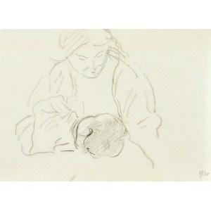 Leopold GOTTLIEB (1879-1934), Kobieta karmiąca dziecko, 1920