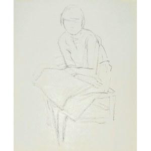 Leopold GOTTLIEB (1879-1934), Szkic siedzącej kobiety z założonymi nogami