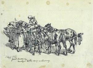 Tadeusz RYBKOWSKI (1848-1926), Przed karczmą, 1884