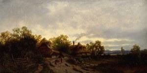 Zygmunt SIDOROWICZ (1846-1881), Pejzaż z chatami