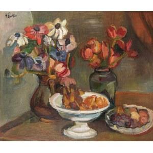 Henryk EPSTEIN (1891 - 1944), Martwa natura z kwiatami i owocami