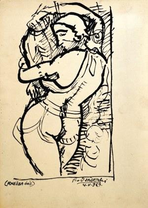 Kazimierz PODSADECKI (1904-1970), Akt kobiety wg rzeźby indyjskiej, 1969