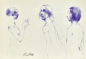 Roman BANASZEWSKI (1932-2021), Szkice kobiet w różnych ujęciach