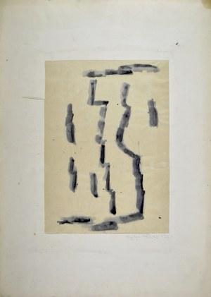 Krystyna PELLETIER (1914-2007), Kompozycja czarna, 1960