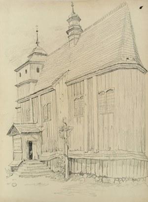 Ludwik MACIĄG (1920-2007), Drewniany kościół