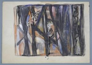 Janina MUSZANKA - ŁAKOMSKA (1920-1982), Kompozycja abstrakcyjna , 1966