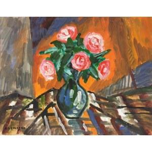 Pinchus KREMEGNE (1890-1981), Martwa natura z rożami
