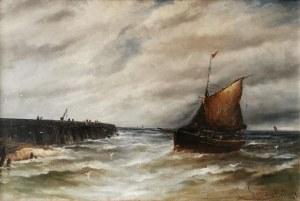 Gustave de BREANSKI (ok. 1856-1898), Powrót z połowu
