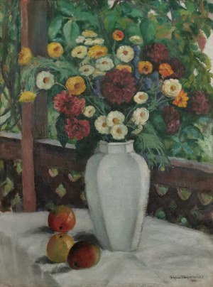 Stefan  FILIPKIEWICZ (1879-1944), Bukiet na werandzie, 1924