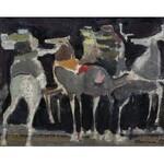 Alfred ABERDAM (1894-1963), Jeźdźcy, 1955