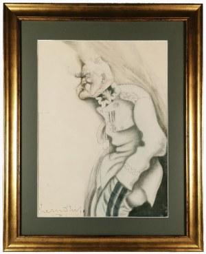 Zdzisław CZERMAŃSKI (1900-1970), Karykatura Józefa Piłsudskiego,1927