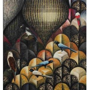 Katarzyna Stelmach, Kompozycja z czerwonym ptaszkiem, 2021