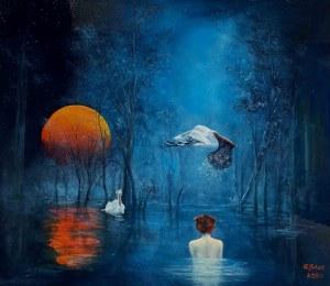 Grażyna Jeżak, Magiczne jezioro, 2020