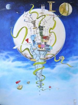 Dariusz Franciszek Różyc, Blue Iwa z cyklu Nie tak odległe, 2021