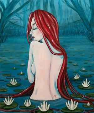 Aleksandra Lacheta (ur. 1992), Dziewczyna w kąpieli, 2021