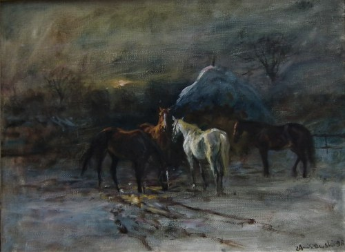 Zenon Aniszewski,Na popasie,1996