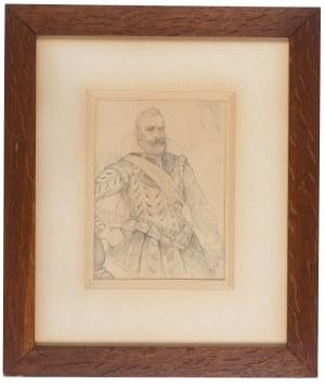 Jan Matejko (1838 Kraków – 1893 tamże), Popiersie mężczyzny w półzbroi, lata 1858–1860