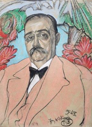 Stanisław Ignacy Witkiewicz (1885 Warszawa - 1939 Jeziory na Polesiu), Portret mężczyzny, X 1926 r.