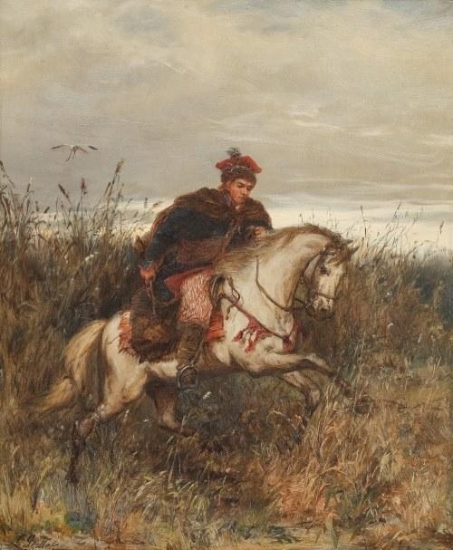 Ludwik Gędłek (Kraków 1847 - Wiedeń 1904), Posłaniec – Krakus pędzący na koniu