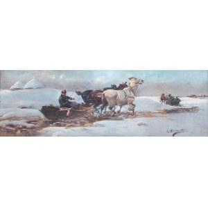 Jan Konarski (1850-1918), W drodze