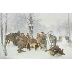 Czesław Wasilewski (1875 Warszawa – 1947 Łódź), Po polowaniu na dzika