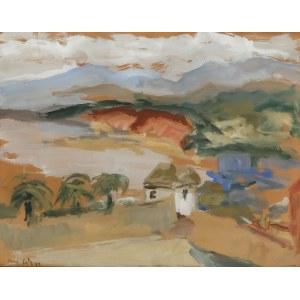 Emmanuel Katz (zw. Mané-Katz) (1894 Krzemieńczuk - 1962 Tel Awiw), Pejzaż z Palestyny, 1934 r.