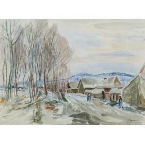 Henryk Epstein (1891 Łódź - 1944 Auschwitz), Pejzaż zimowy